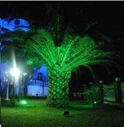 Lambax - 100 Watt Yeşil Led Projektör Bahçe Çim Aydınlatma