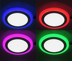 Lambax - 24W Çift Renkli Sıva Altı Led Işık Panel Spot Lamba Aydınlatma Armatür