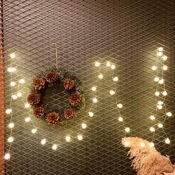 Lambax - Dekoratif Fişli 5 Mt Mini Ledli Top Süs İp Led Işık Aydınlatma Günışığı