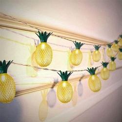 Dekoratif Pilli Ananaslı İp Led Işık - Yılbaşı Süs İp Led Işık - Thumbnail