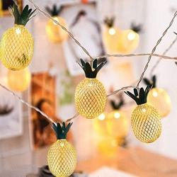 Lambax - Dekoratif Pilli Ananaslı İp Led Işık - Yılbaşı Süs İp Led Işık