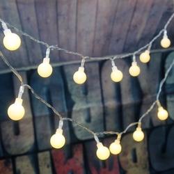 Lambax - Dekoratif 10 mt Fişli Mini Ledli Top Süs İp Led Işık Aydınlatma