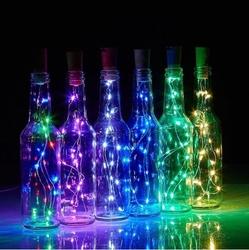 Lambax - Dekoratif Pilli Mantar Tıpalı Peri İp Tel Led Işık RGB (Çok Renkli)