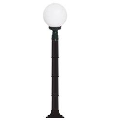 Lambax - Glop Plastik Direkli Bahçe Armatürü - Bahçe Lambası Siyah