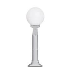 Lambax - Glop Plastik Direkli Bahçe Armatürü - Bahçe Lambası Beyaz