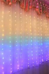 Lambax - Dekoratif Gökkuşağı Perde Tel Led Işık 2x2