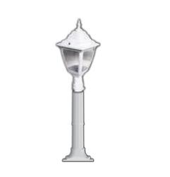 Lambax - Kare Plastik Direkli Bahçe Armatürü - Bahçe Lambası Beyaz