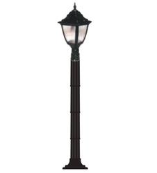 Lambax - Kare Plastik Direkli Bahçe Armatürü - Bahçe Lambası Siyah