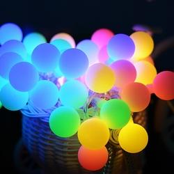Lambax - Dekoratif Pilli Mini Ledli Top Süs İp Led Işık Aydınlatma RGB (Çok Renkli)