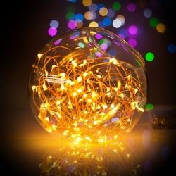 Lambax - Pilli Peri Led Dekoratif İp Tel Led Işık Yılbaşı Süs AMBER