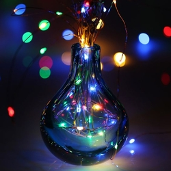 Lambax - Pilli Peri Led Dekoratif İp Tel Led Işık Yılbaşı Süs RGB (Çok Renkli)